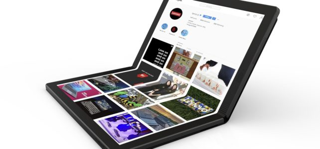 Laptop layar lipat Lenovo foldable thinkpad x1