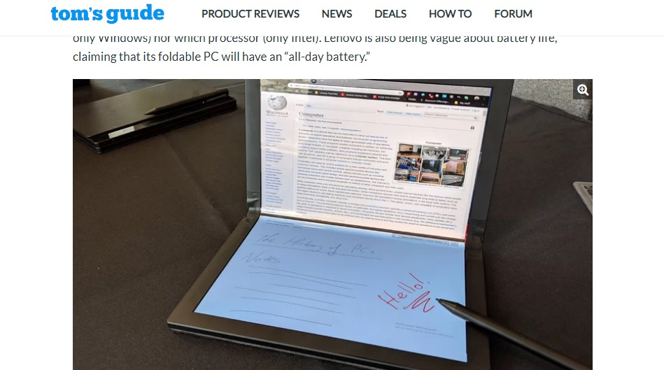 Laptop layar lipat Lenovo foldable thinkpad x1 dengan stylus