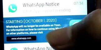 WhatsApp Tizen Samsung Z2